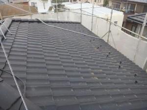 つくばみらい市の外壁塗装と屋根塗装の屋根の施工前写真