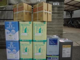 茨城県取手市O様邸の外壁塗装と屋根塗装工程:使用材料