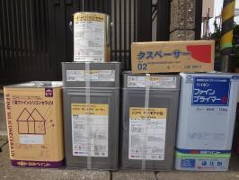 千葉県松戸市S様邸の外壁塗装と屋根塗装工程:使用材料1