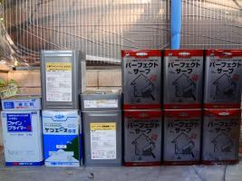 茨城県龍ヶ崎市K様邸の外壁塗装と屋根塗装工程:使用材料3