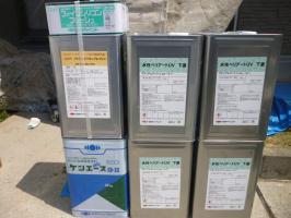 千葉県柏市I様邸の外壁塗装と屋根塗装工程:上塗り2回目(ファインシリコンフレッシュ)